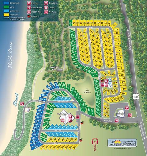 Floor Plan for Welcome to Pacific Shores Motorcoach Resort.